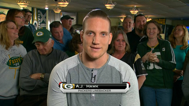 Green Bay Packers linebacker A.J. Hawk: We are excited to open the season in Seattle