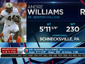 Video - New York Giants select RB Andre Williams with No. 113 pick