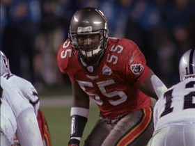 Video - Tampa Bay Buccaneers Derrick Brooks' 44-yard interception for six