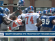 Watch: Giants clash and connect during training camp