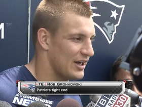Video - New England Patriots tight end Gronkowski: 'I'm getting used to everything that I can do'