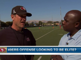 Video - San Francisco 49ers head coach Jim Harbaugh excited for team's determination
