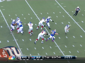 Video - Buffalo Bills defensive tackle Kyle Williams' strip-sack of New York Giants quarterback Eli Manning