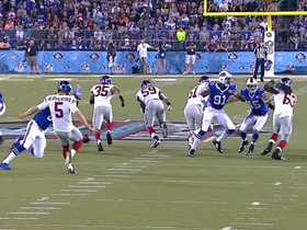 Video - Buffalo Bills WR Marcus Easley blocks New York Giants punter Steve Weatherford's punt