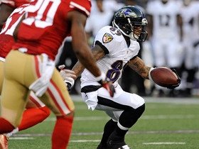 Video - Baltimore Ravens wide receiver Steve Smith catches first pass as a Raven
