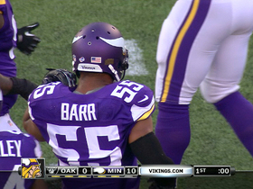 Video - Minnesota Vikings linebacker Anthony Barr gets his first sack