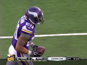 Video - Minnesota Vikings safety Kurt Coleman intercepts Oakland Raiders quarterback Derek Carr