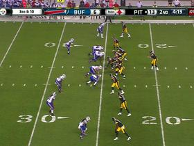 Video - Pittsburgh Steelers quarterback Landry Jones intercepted by Buffalo Bills cornerback Nickell Robey