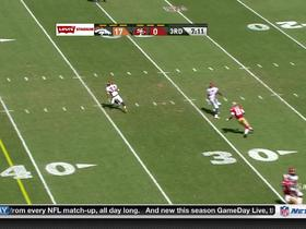 Video - San Francisco 49ers quarterback Blaine Gabbert intercepted by Denver Broncos cornerback Tony Carter
