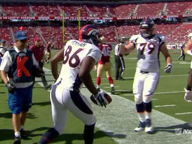 Video - Denver Broncos quarterback Zac Dysert passes to tight end Cameron Morrah for the 16-yard touchdown