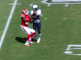Smith intercepted by McCourty