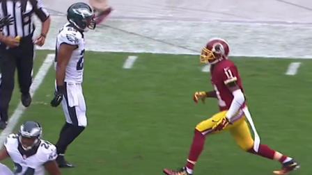 Washington Redskins wide receiver DeSean Jackson s first play back in  Philly - NFL Videos f312db98126