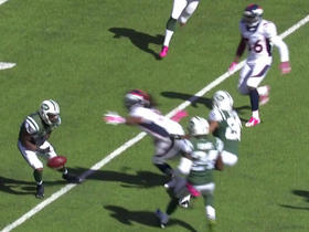 Powell muffs punt, recovered by Broncos