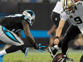 Panthers recover Brees' fumble