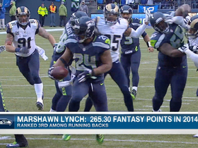 Watch: Marshawn Lynch fantasy value this season