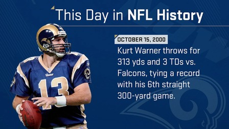 This Day In Nfl History Kurt Warner Throws For Sixth