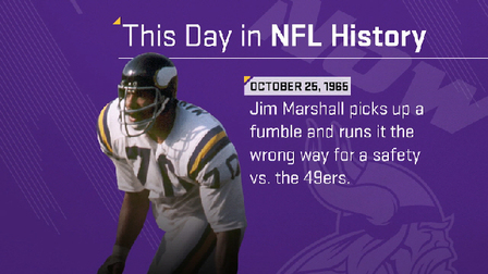 This Day in NFL History  Jim Marshall runs the wrong way - NFL Videos 7add164cf