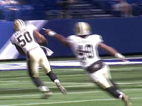 Colts Andrew Luck intercepted by Saints Stefon Anthony