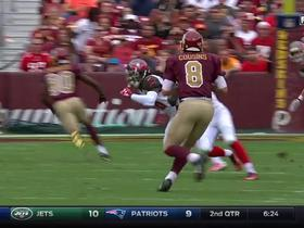 Redskins Cousins hits Ryan Grant for a 19-yard gain