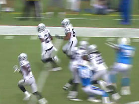 Raiders Malcolm Smith intercepts pass from Chargers Philip Rivers