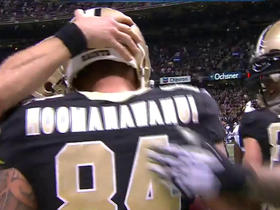 Saints Drew Brees hits Michael Hoomanawanui for 1-yard TD