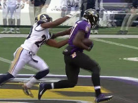 Ravens Joe Flacco finds Jeremy Butler for 25 yards