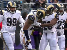 Ravens Joe Flacco intercepted by Rams Trumaine Johnson