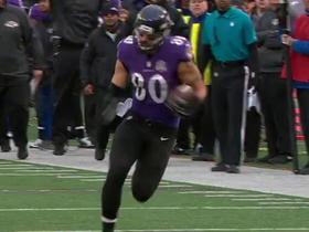Ravens Flacco finds Crockett Gillmore for a 46-yard gain