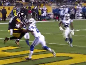 Steelers Ben Roethlisberger hits Will Johnson for the 2-point conversion