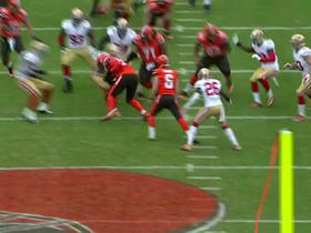 49ers block Browns field goal try