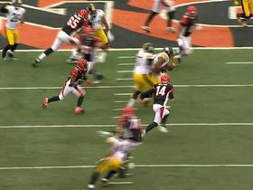 Bengals Andy Dalton intercepted by Steelers Stephon Tuitt