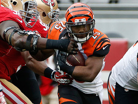 Giovani Bernard bulldozes through Eric Reid