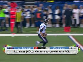 Rapoport: Yates out for season with torn ACL