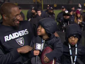 Charles Woodson's sons steal the show