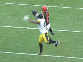 Terrelle Pryor leaps over defender for 42-yard catch from Austin Davis