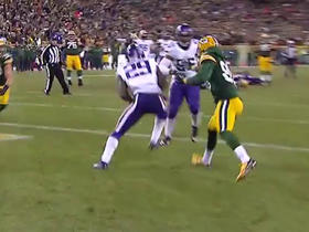 Watch: Xavier Rhodes intercepts Aaron Rodgers in the end zone