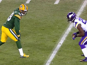 Watch: Packers Aaron Rodgers pass downed by Vikings Xavier Rhodes