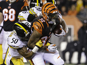 Watch: Jeremy Hill breaks free up sideline for 38-yard gain