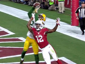 Watch: Damarious Randall picks off Carson Palmer in end zone