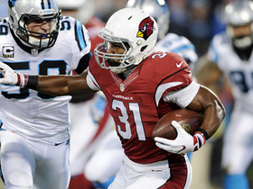 Watch: David Johnson hustles for 23-yard gain