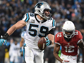 Watch: Luke Kuechly's pick six