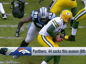 Watch: Panthers defensive line vs. Broncos offensive line