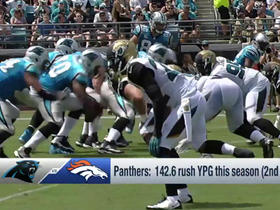 Watch: Panthers offensive line vs Broncos defensive line