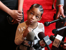 Watch: Leah Still supports her dad on the red carpet