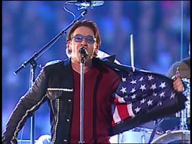 Watch: U2 connects with the world during Super Bowl XXXVI halftime show