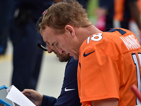Watch: Chances Peyton Manning gets benched today?