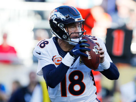 Watch: Broncos Peyton Manning starts off strong with completion to Owen Daniels