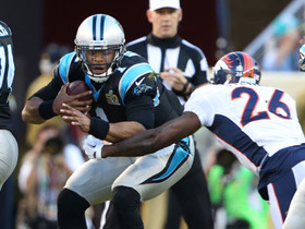 Watch: Panthers Cam Newton sacked by Broncos Darian Stewart for loss of 8 yards