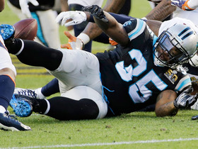 Watch: Mike Tolbert fumbles, Danny Trevathan recovers
