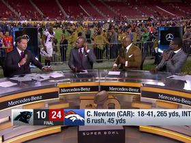 Watch: Aqib Talib on falling on set: 'I love going viral!'